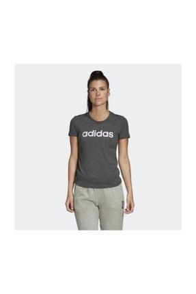 adidas W E LIN SLIM T Koyu Gri Kadın T-Shirt 100546435 2