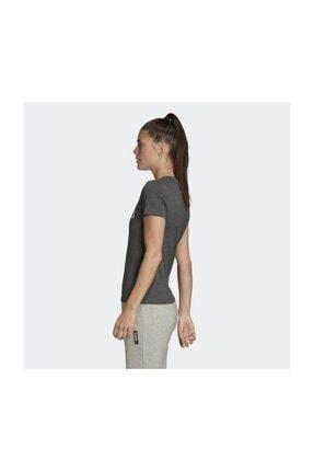 adidas W E LIN SLIM T Koyu Gri Kadın T-Shirt 100546435 3
