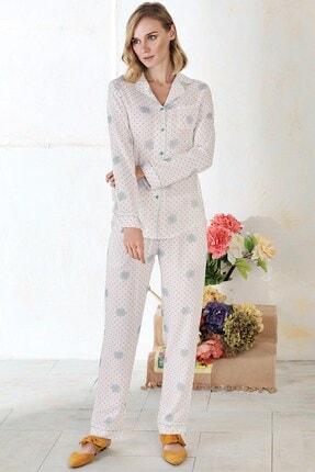 Lohusa Sepeti Pietra Lungo Önden Düğmeli Pijama Takımı 1183 1