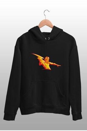 Angemiel Wear Şimşek Zeus Siyah Erkek Kapüşonlu Sweatshirt Çanta Kombin 2
