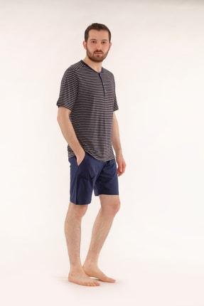 Pelin  Şortlu Lacivert Erkek Pijama Takımı 0
