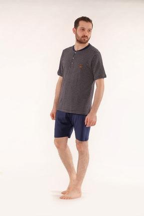 Pelin  Şortlu Lacivert Erkek Pijama Takımı 1