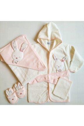 Gaye 826 Kız Bebek Pamuklu Bornoz Seti 0