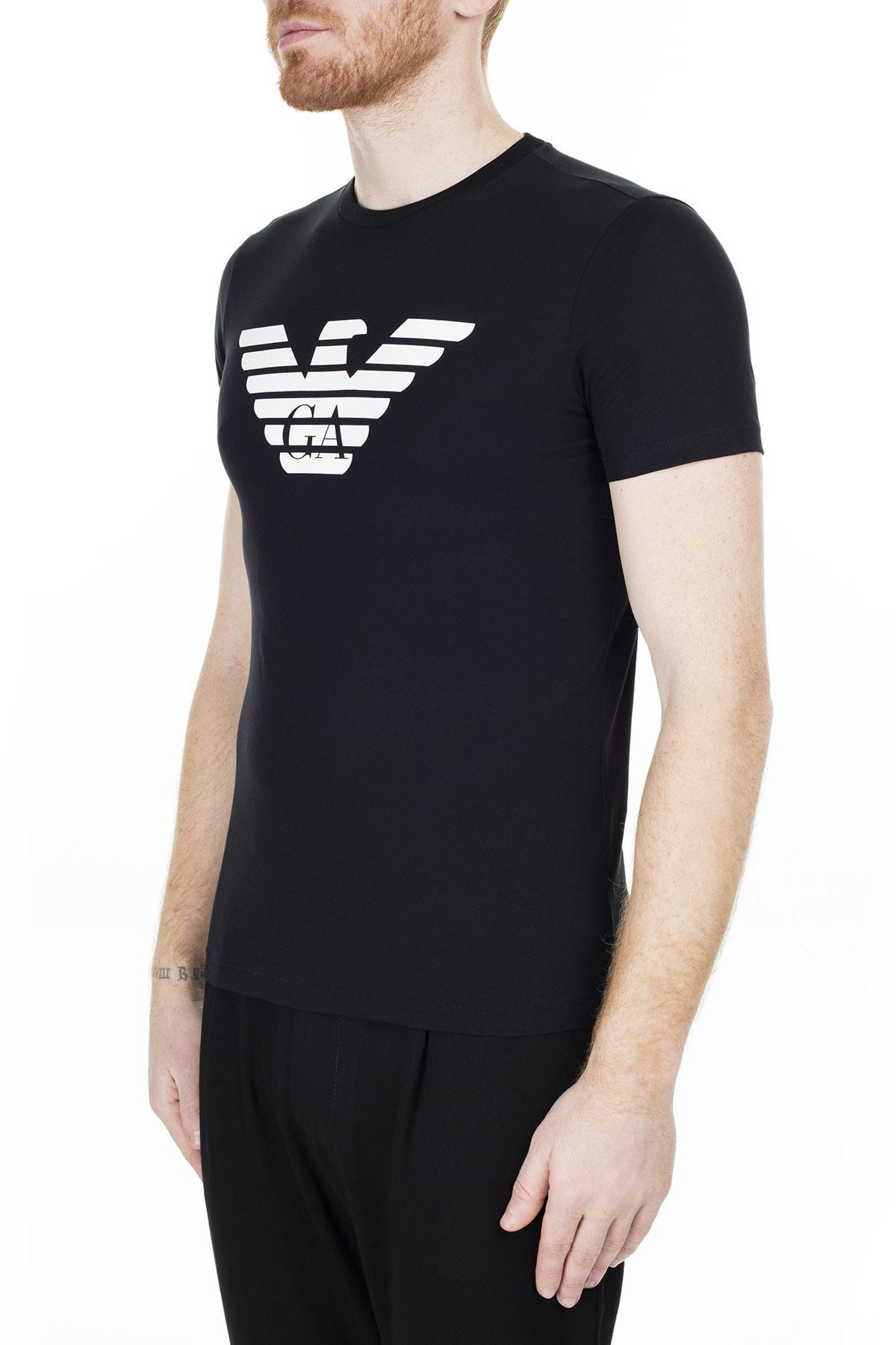 Emporio Armani Siyah Erkek T-Shirt 8N1T99 1JNQZ 0999 2