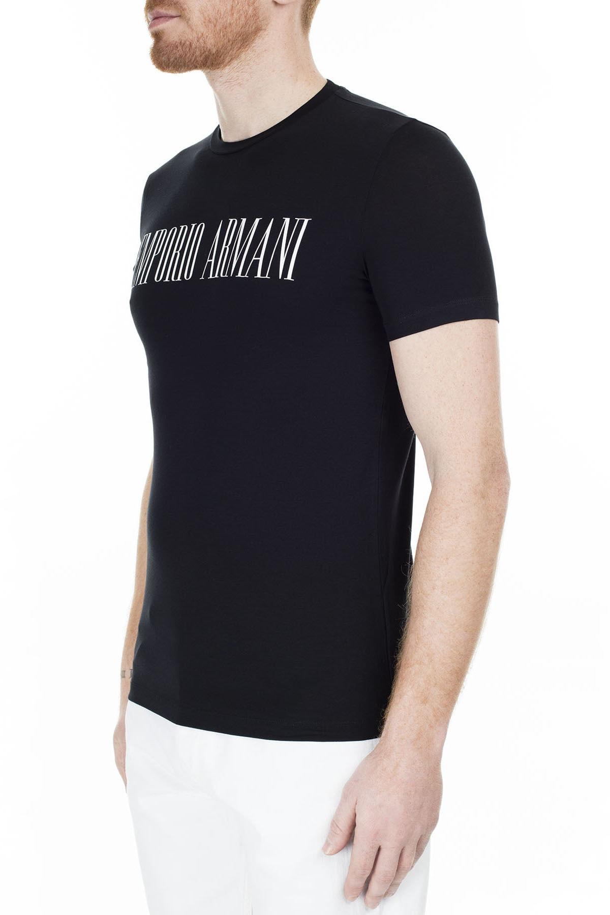 Emporio Armani Regular Fit T Shirt Erkek T Shirt S 6G1Td5 1J0Az 0002 S 6G1TD5 1J0AZ 0002 2