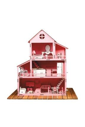 Düven Hobi Evi Barbie Oyun Evi Ahşap 0