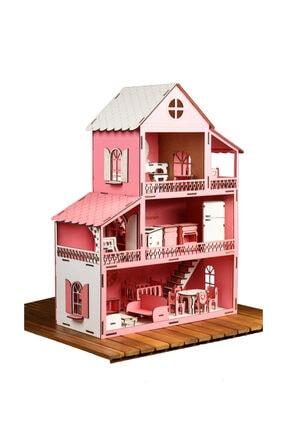 Düven Hobi Evi Barbie Oyun Evi Ahşap 3
