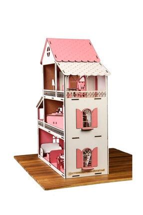 Düven Hobi Evi Barbie Oyun Evi Ahşap 4
