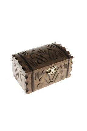BARIŞ El Yapımı Ahşap Takı Kutusu Mücevher Sandığı Hediyelik Eşya 1