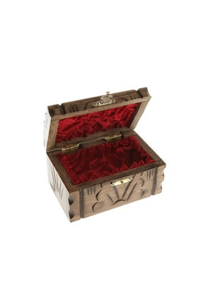 BARIŞ El Yapımı Ahşap Takı Kutusu Mücevher Sandığı Hediyelik Eşya 2