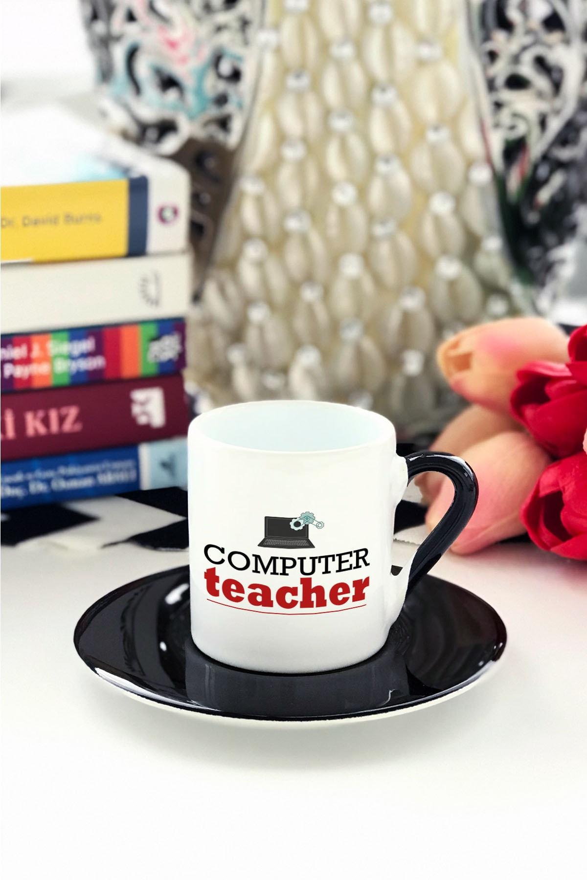 Computer Teacher Türk Kahvesi Fincanı Siyah