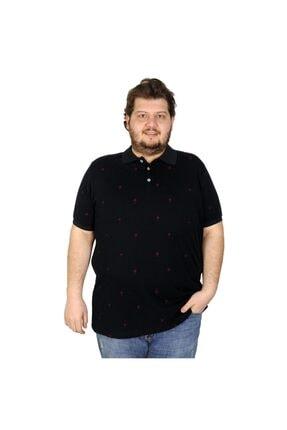 Picture of Battal Beden Erkek Tshirt Polo Yaka Palm Teers 20409 Lacivert