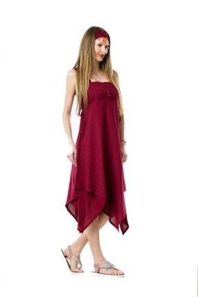 Eliş Şile Bezi Üçgen Katlı Elbise 1