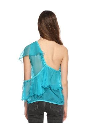 Ltd Jeans Tek Kollu Mavi Bluz 4