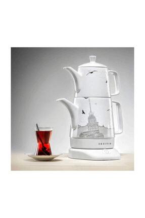 DESINIA Porselen 1lt  Istanbul Desenli Çay Makinesi 2