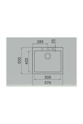 Teka Forsquare 50.40 Tg Tezgahüstü Beyaz Granit Evye 2