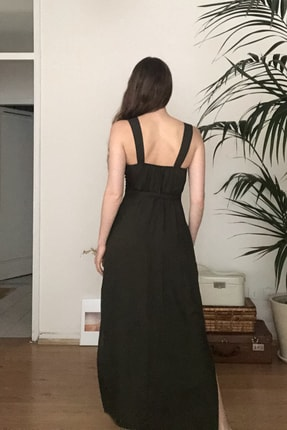 TRENDYOLMİLLA Siyah Kemerli Elbise TWOSS20EL1767 3
