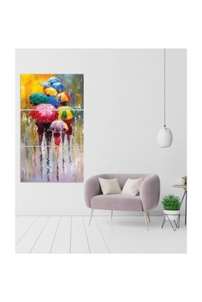 Pi Dekorasyon Renkli Şemsiyeler 3 Parça Mdf Tablo 1