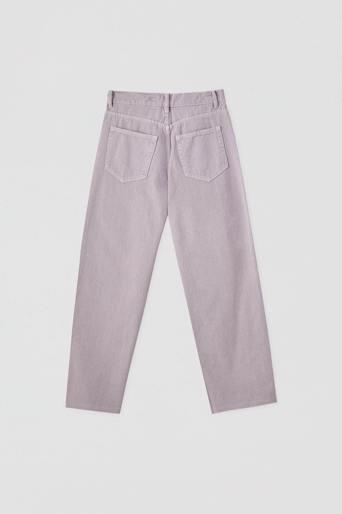 Pull & Bear Kadın Leylak Crop Straight Fit Jean 05670330 4