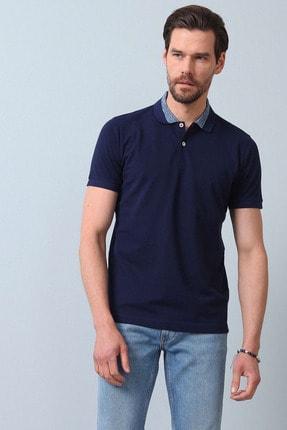 Ramsey Erkek Açık Lacivert Jakarlı Örme T - Shirt RP10119899 3