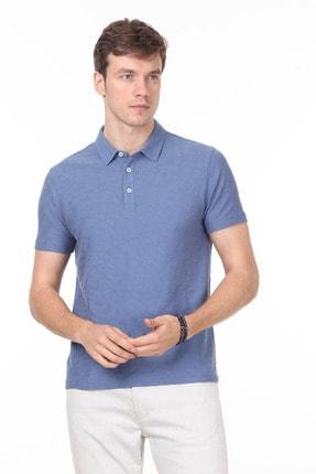 Ramsey Erkek Koyu Mavi Jakarlı Örme T - Shirt RP10119896 0