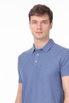 Ramsey Erkek Koyu Mavi Jakarlı Örme T - Shirt RP10119896 1