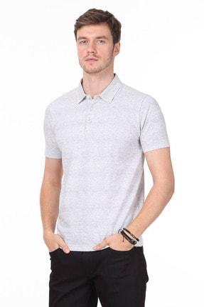 Ramsey Erkek Gri Jakarlı Örme T - Shirt RP10119832 1
