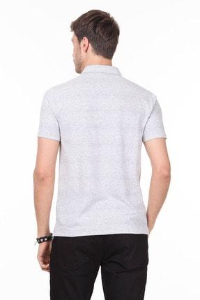 Ramsey Erkek Gri Jakarlı Örme T - Shirt RP10119832 3