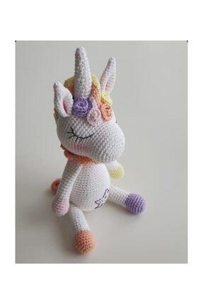 RUNOWİ Amigurumi Unicorn Organik El Örmesi Oyuncak 25 Cm 0
