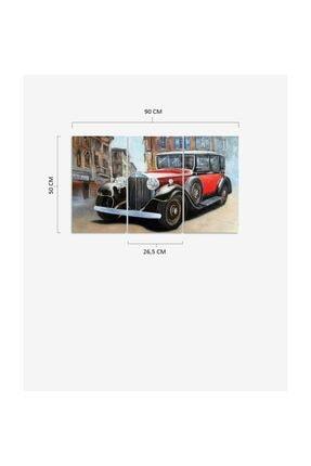 Pi Dekorasyon Klasik Araba 3 Parça Mdf Tablo 2 2