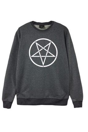 fame-stoned Unisex Gri Baskılı Sweatshirt 0