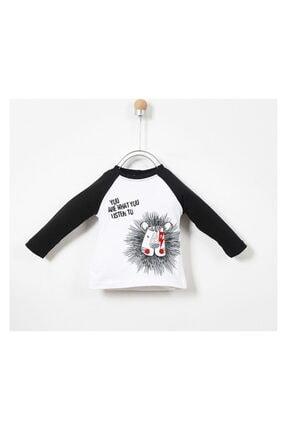 Panço Erkek Bebek Beyaz Uzun Kollu T-shirt 19217083100 0