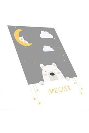 Estela Sevimli Uykucu Kutup Ayısı Desen Çocuk Odası Halısı 0