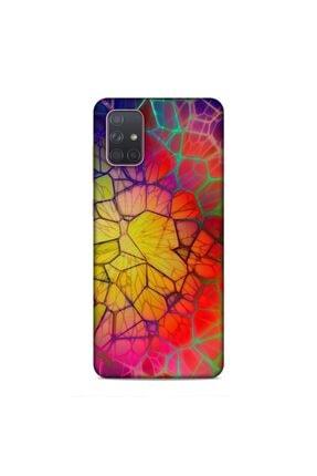Pickcase Samsung Galaxy A71 Kılıf Desenli Arka Kapak Pirizma Renkler 0