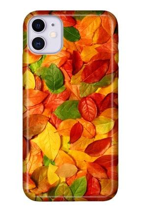 """Cekuonline Iphone 12 6.1"""" Tıpalı Kamera Korumalı Silikon Kılıf - Sonbahar Stok1260 0"""