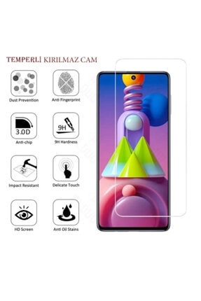 BizimGross Samsung Galaxy M51 Nano Esnek Kırılmaz Cam Ekran Koruyucu 3