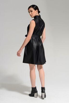 Batik Kadın Siyah Duz Casual Elbıse 3