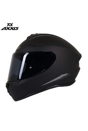 AXXIS Drakan Mat Black Full Face Şeffaf Vizör Kask 0