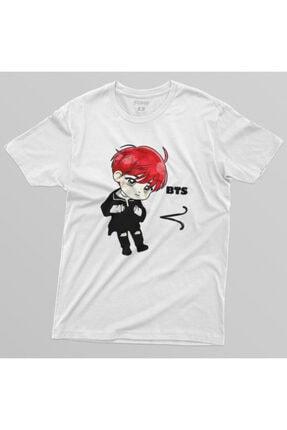 Crazy Bts V Cartoon Erkek Tişört 3