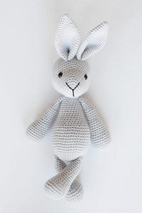 Enjoymydesign Gri Doğal Tavşan Oyuncak 35 cm Uyku Arkadaşı 0