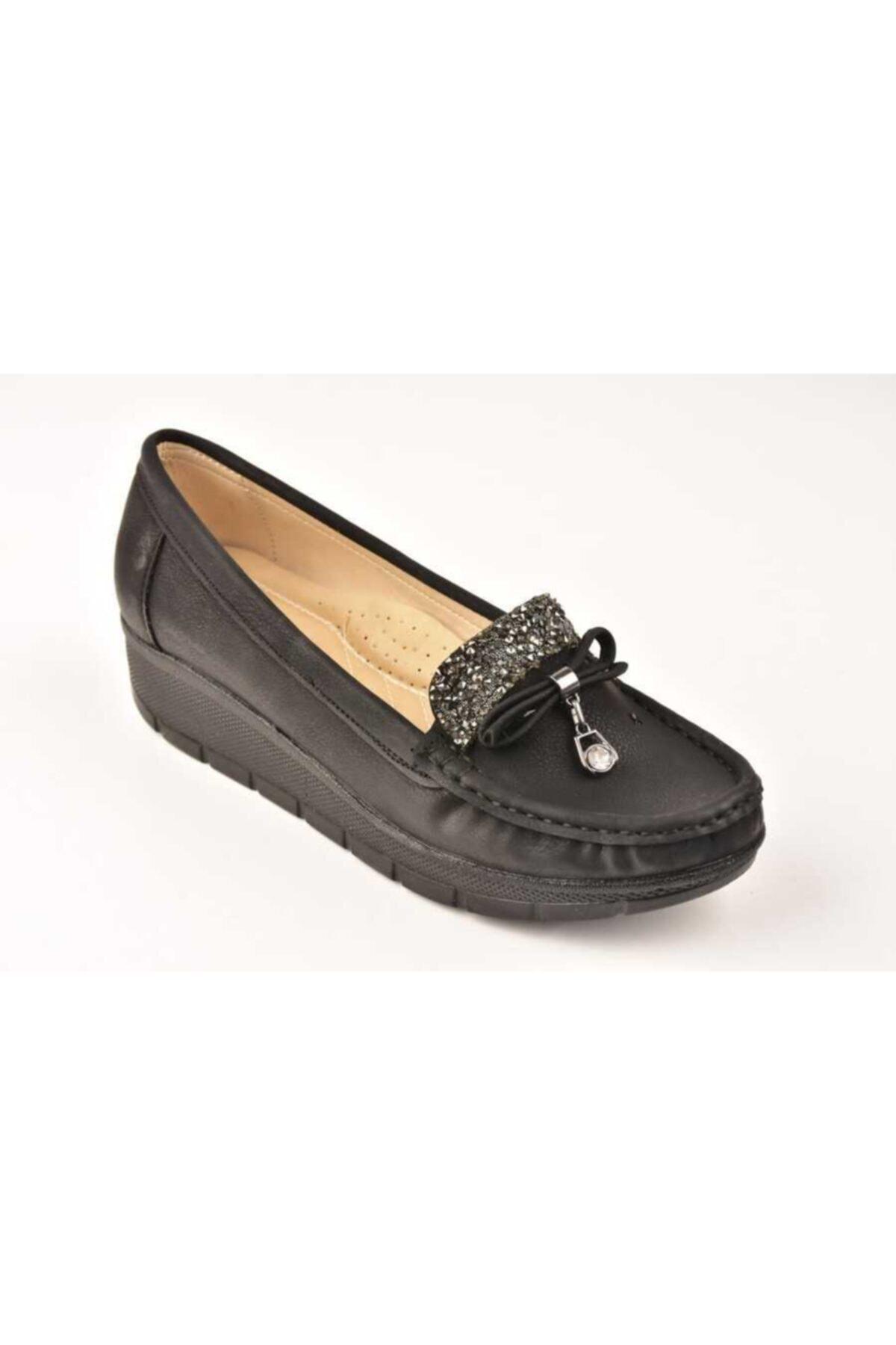Mehtap Kadın Siyah Ayakkabı 703-20k
