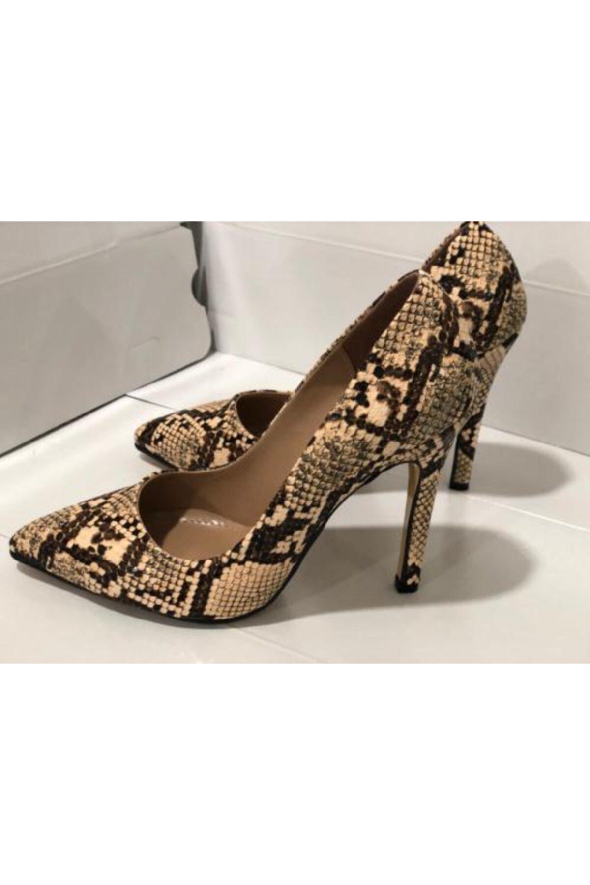 Trendy ayakkabı Kadın Bej Yüksek Topuklu Stiletto