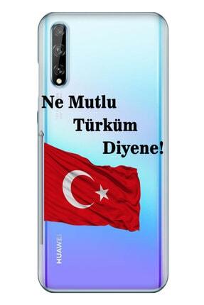 cupcase Huawei Y8p Kılıf Resim Esnek Silikon Kapak Türk Desen + Temperli Cam 0