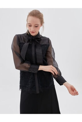Kayra Kadın Siyah Bluz Ka-b20-10072 0
