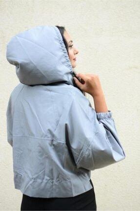Simsibutik Kadın Gri Yağmurluk 2