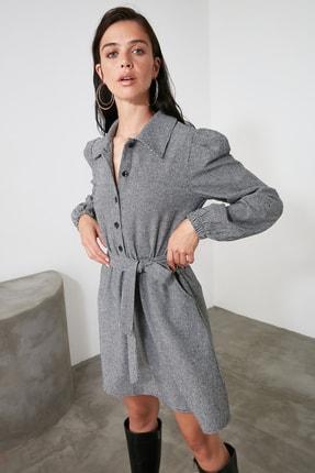TRENDYOLMİLLA Çok Renkli Kuşaklı Elbise TWOAW21EL2067 2