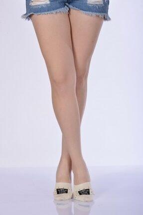 4'lü Paket - Desenli Kadın Babet Çorabı - Bej B-art048 B-KAD048-43