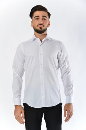 Erkek Beyaz Gömlek 100-1a