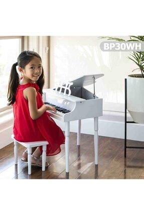 Durbuldum Çocuk Için Ahşap Piyano Bp30wh Nota Sehpası Ve Tabure Hediyeli 0