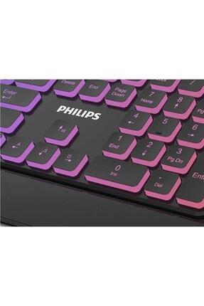 Philips Spk8274 Usb Q Multimedia Klavye Gaming Klavye Ledli Gökkuşağı Aydınlatmalı Oyuncu Klavye 2